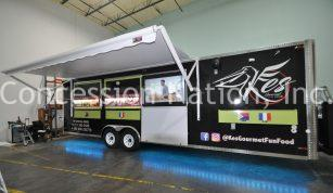 Concession trailer with TV