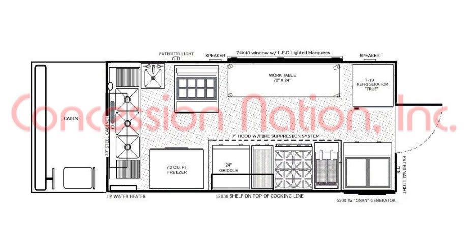 floorplans | food trucks | food trailers | mobile kitchen
