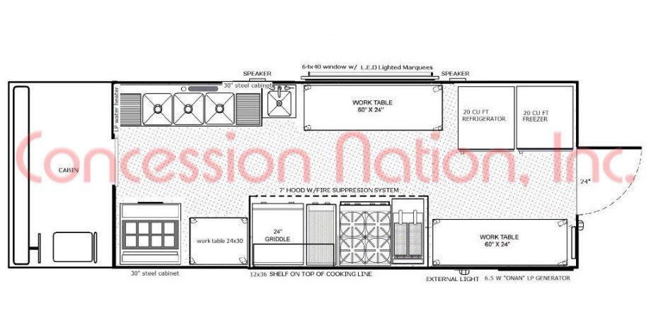Floorplans Food Trucks FAST FOOD TRUCK Mobile Kitchens