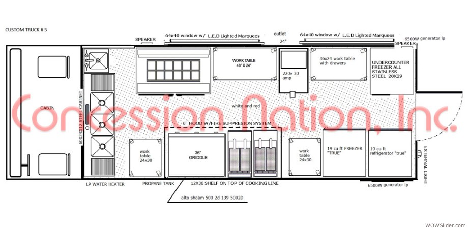 Floorplans Food Trucks Food Trailers Mobile Kitchen