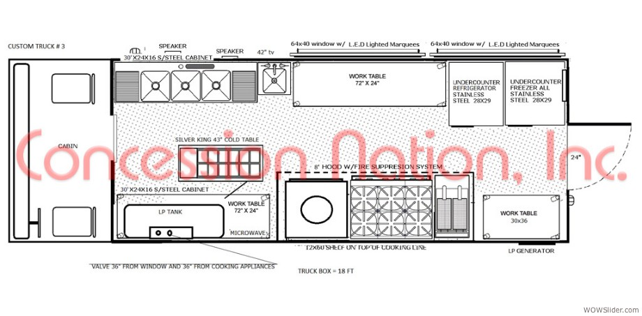 food truck floor plans. Floor Plan \u2013 16 Ft Truck Box Food Plans